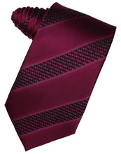Load image into Gallery viewer, Autumn Venetian Pin Dot Striped Necktie