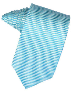 Light Champagne Venetian Pin Dot Necktie