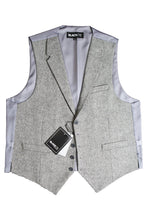 "Load image into Gallery viewer, Charcoal ""Camdyn"" Tweed Vest"