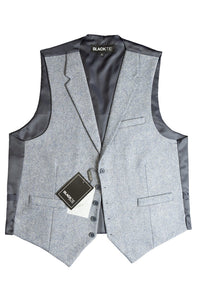 "Charcoal ""Camdyn"" Tweed Vest"
