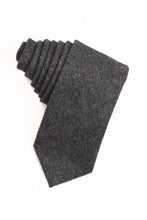 Load image into Gallery viewer, Charcoal Tweed Necktie