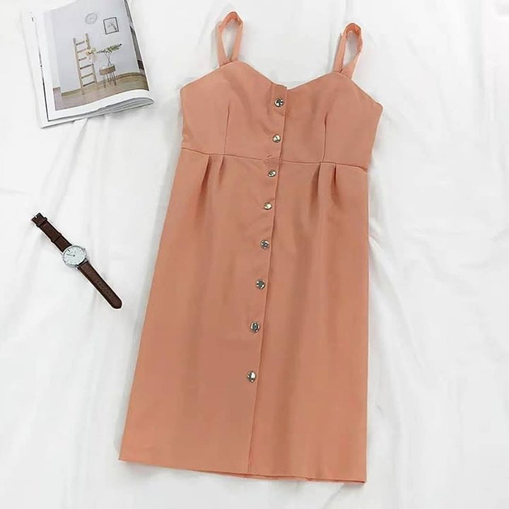 Candy Color Button Down Dress