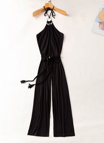 Hardware Trim Bareback Jumpsuit