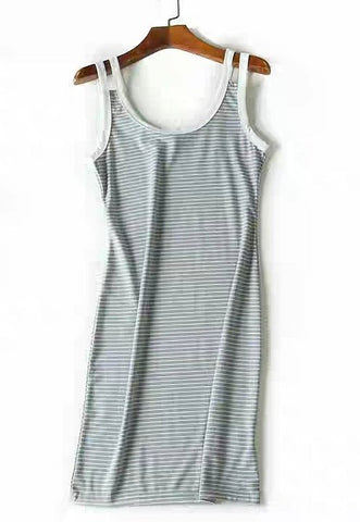 Stripes Basic Bodycon Dress