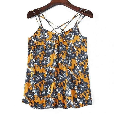 Floral Cami Top in Apricot