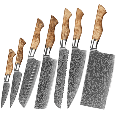 7 Piece Elderwood Series Kitchen Knife Set