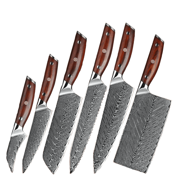 6 Piece Feng Series Kitchen Knife Set