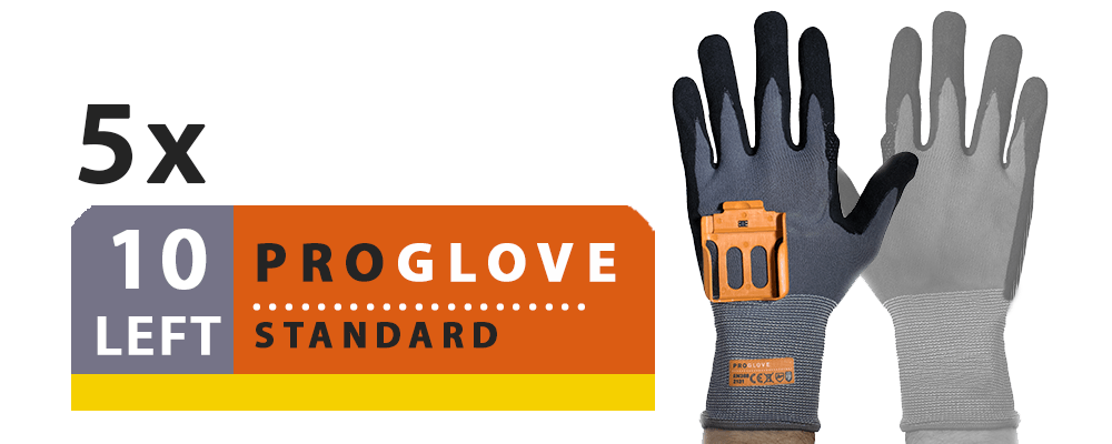 ProGlove Standard 5 Pairs Pack - Left Hand Size 10 (G001-10L)