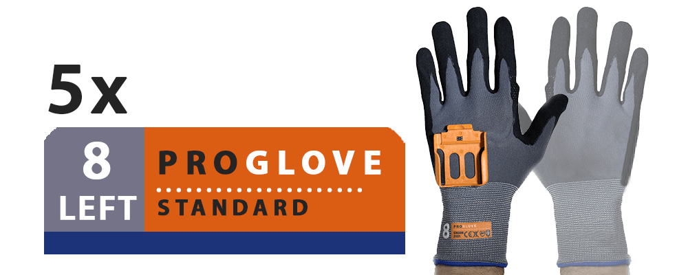 ProGlove Standard 5 Pairs Pack - Left Hand Size 8 (G001-8L)