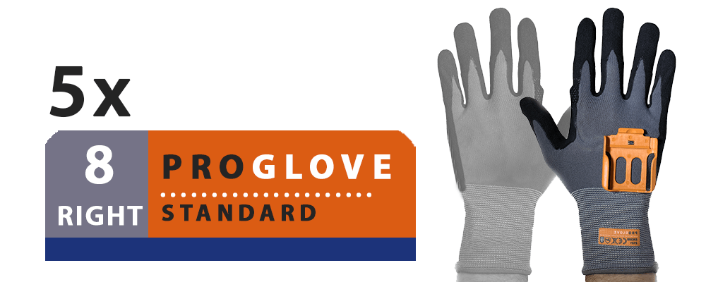 ProGlove Standard 5 Pairs Pack - Right Hand Size 8 (G001-8R)