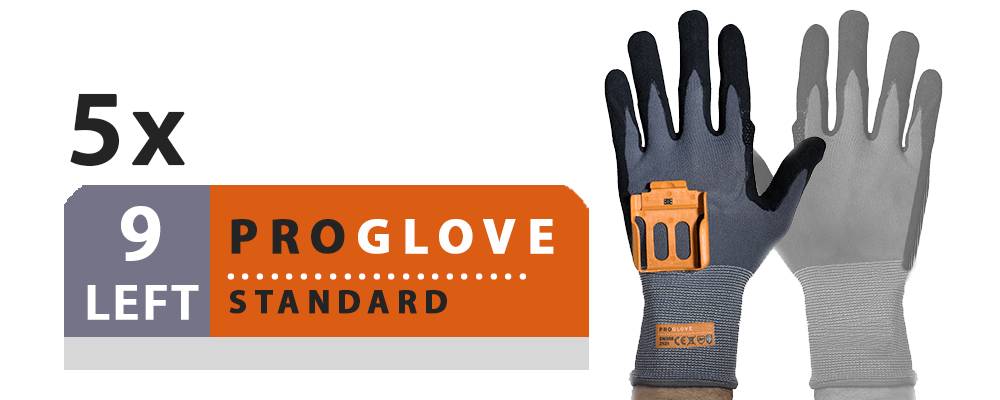 ProGlove Standard 5 Pairs Pack - Left Hand Size 9 (G001-9L)