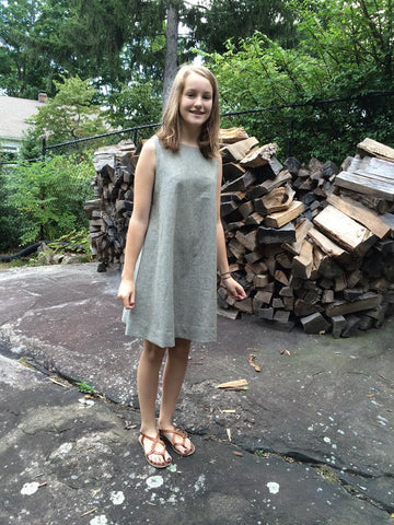 Sleeveless Trapeeze Dress from Merchant and Mills. We carry this pattern at our shop in Maine