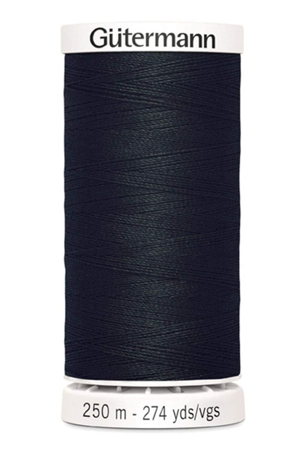 010 Black ~ Sew-All Gutermann Polyester Thread ~ 250 Meters