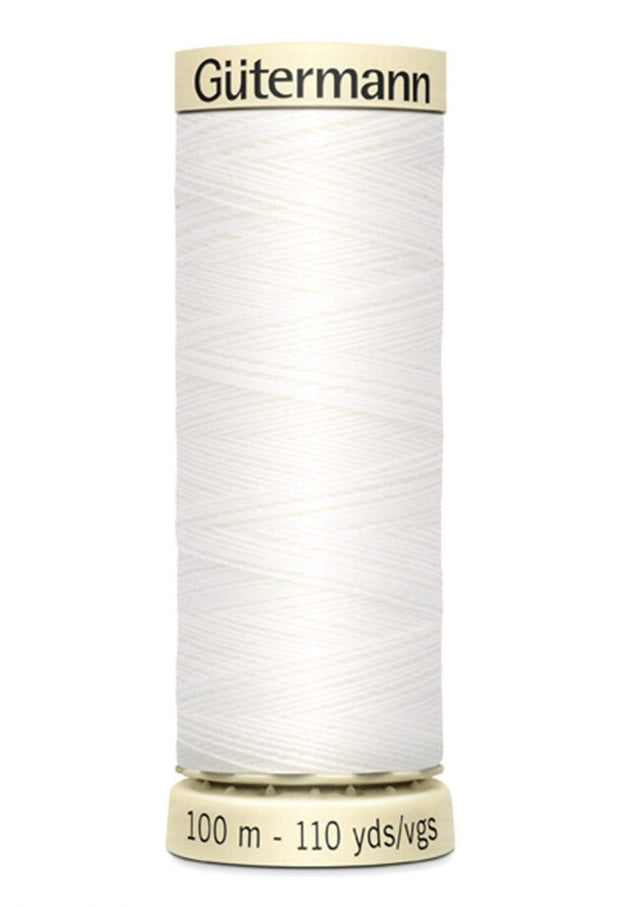 020 Natural White ~ Sew-All Gutermann Polyester Thread ~ 100 Meters