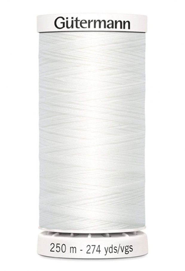 020 Natural White ~ Sew-All Gutermann Polyester Thread ~ 250 Meters