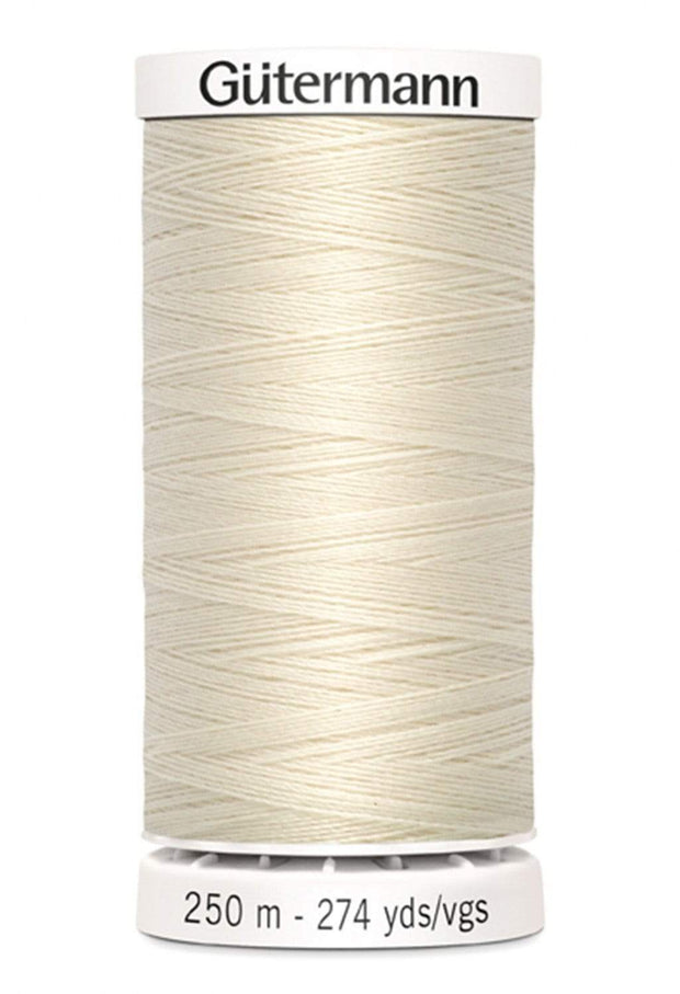 022 Eggshell ~ Sew-All Gutermann Polyester Thread ~ 250 Meters