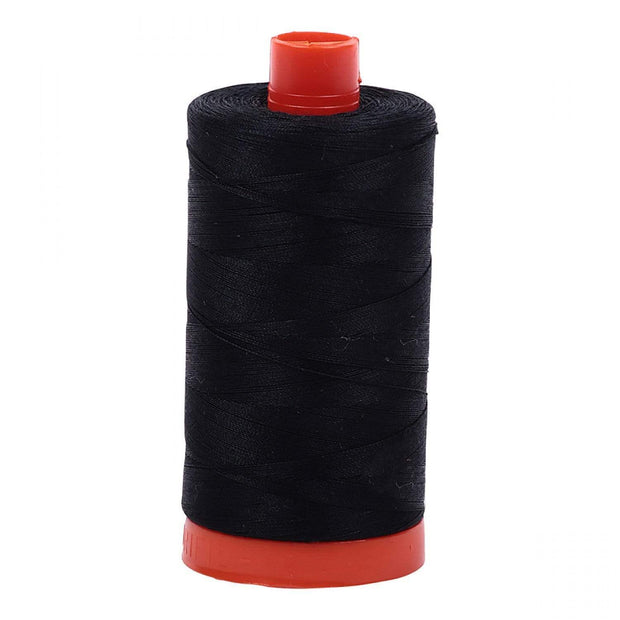 Aurifil 50-Weight Cotton Thread ~ Black 2692