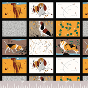 Backyard Dogs Panel, Charley Harper
