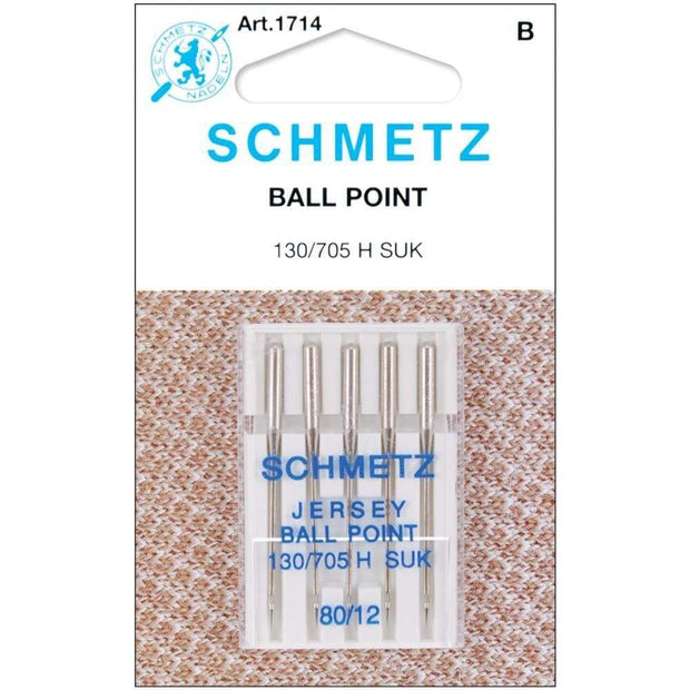 Ball Point Jersey 80/12 Sewing Machine Needles from Schmetz