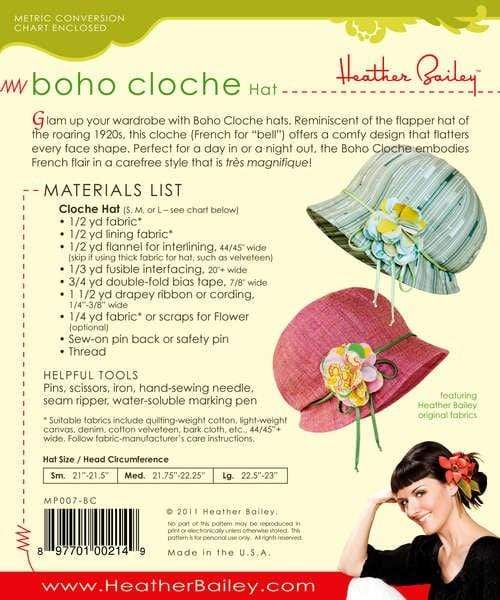 Boho Cloche Hat, Heather Bailey