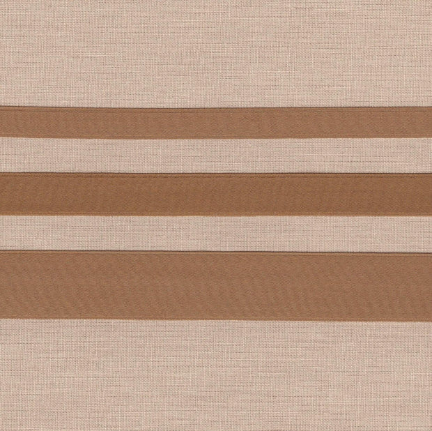 "3/8"" wide Bronze Cotton Ribbon with Satin Finish"