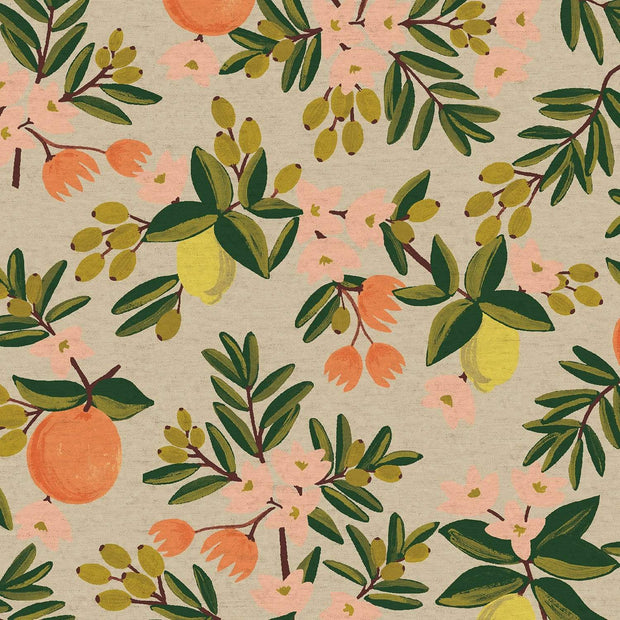 Canvas ~ Citrus Floral in Sand ~ Primavera by Rifle Paper Co.