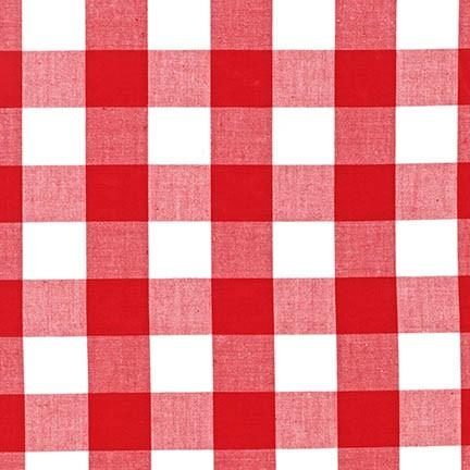 "Carolina Gingham, 1"" in Red"