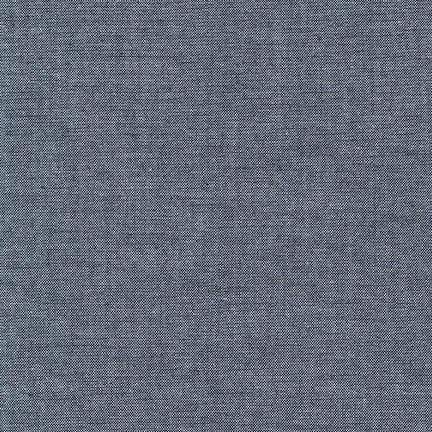 Chambray in Indigo, Chambray Union by Robert Kaufman