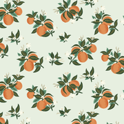 Citrus Blossom in Orange Metallic ~ Primavera by Rifle Paper Co.