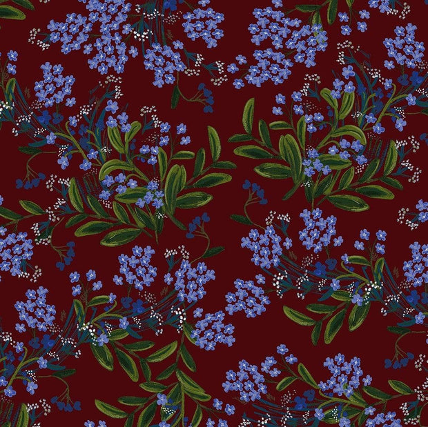 Cornflower in Burgandy ~ Meadow by Rifle Paper Co.