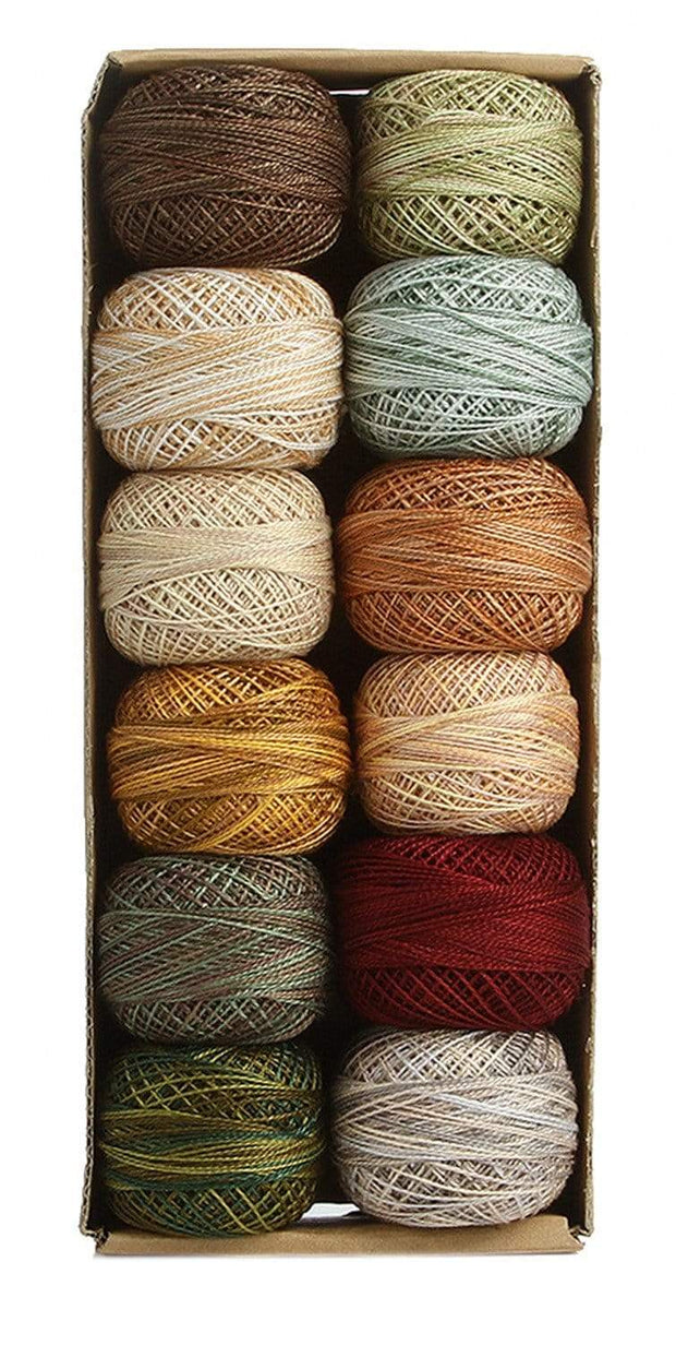 Country Lights Set 2 Light ~ Size 12 Valdani Pearl Cotton Set of Twelve 109 Yard Balls