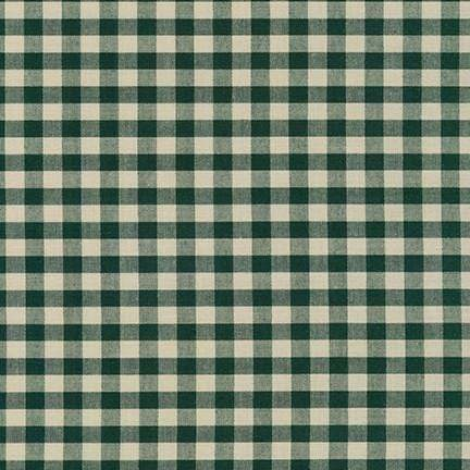 "Crawford Gingham, 1/4"" in Forest"