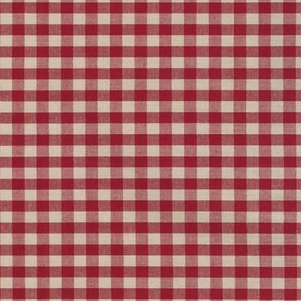 "Crawford Gingham, 1/4"" in Wine"