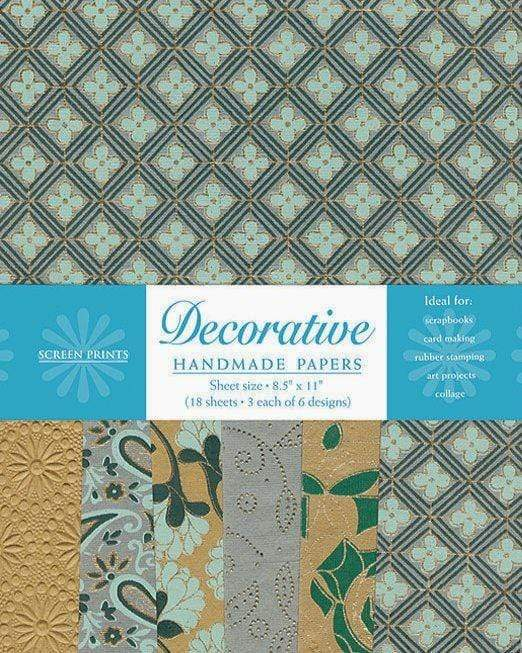Decorative Paper Pack in Caramel and Mint