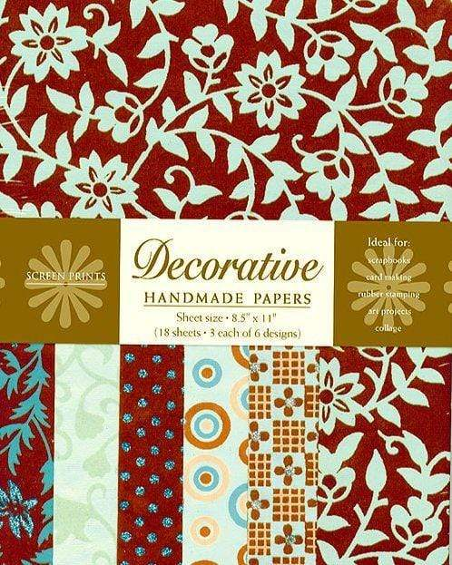 Decorative Paper Pack in Cocoa and Teal