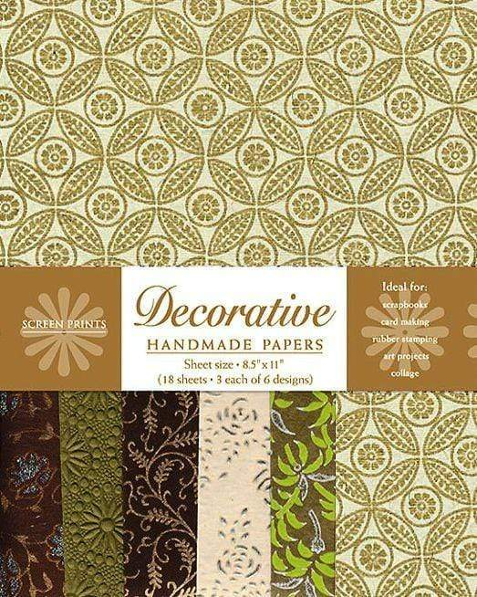 Decorative Paper Pack in Gold and Brown