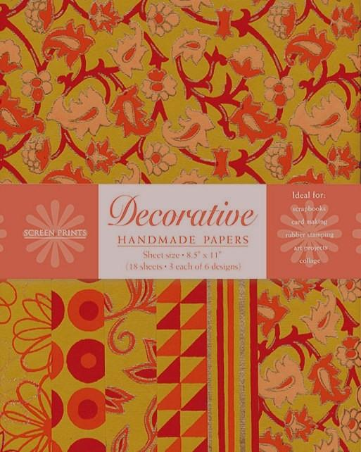 Decorative Paper Pack in Orange, Magenta, and Mustard