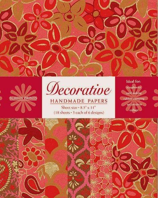 Decorative Paper Pack in Red and Pink