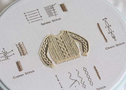 Embroidery Sampler ~ Knit Sweater