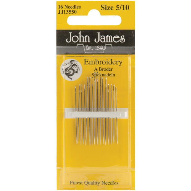 Embroidery, Size 5/10, 16 Count, John James