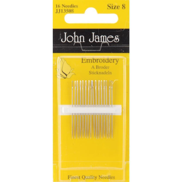 Embroidery, Size 8, 16 Count, John James