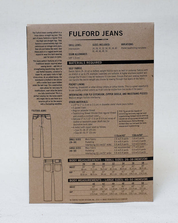 Fulford Jeans - Thread Theory