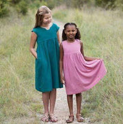 Geranium Dress and Top, Girl's Sizes 6 - 12, Made by Rae