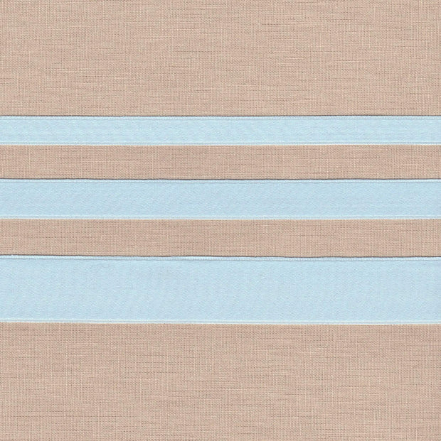 "3/8"" wide Ice Blue Cotton Ribbon with Satin Finish"