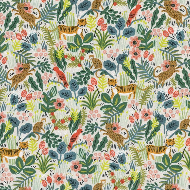 Jungle in Natural ~ Menagerie by Rifle Paper Co.