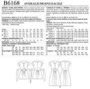 Keyhole Tunic and Dress, Smaller Sizes, Lisette for Butterick B6168