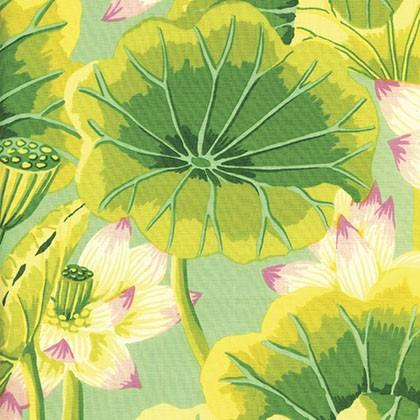 Lake Blossom in Green, by Kaffe Fassett from the Kaffe Collective