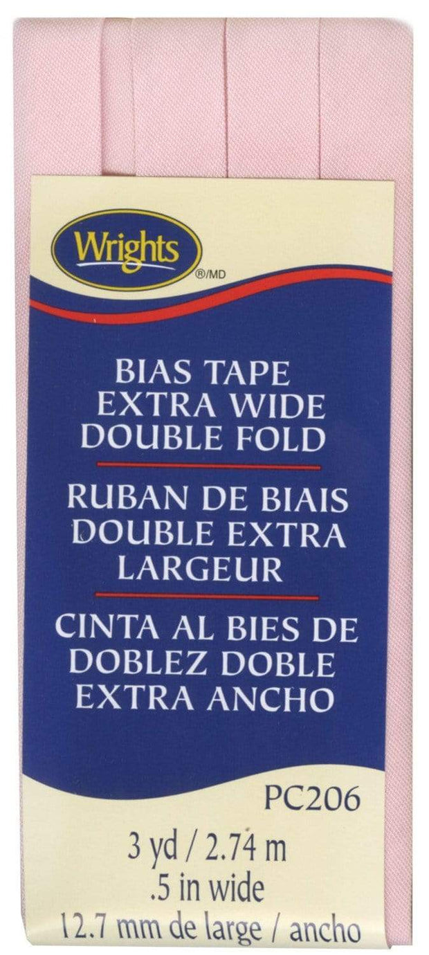 "Light Pink, 1/2"" Double Fold Bias Tape, Wrights"