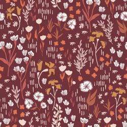Meadow on Deep Rose - Dear Isla by Hope Johnson - Cotton + Steel
