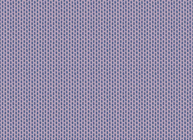 Morning Dew on Spring Purple - Dear Isla by Hope Johnson - Cotton + Steel